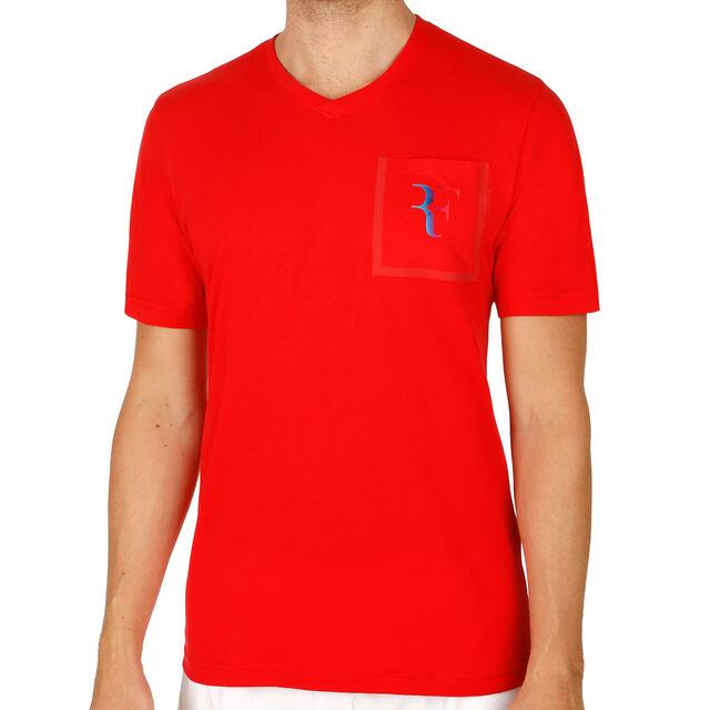 38a34c2c7f5 Nike Roger Federer Stealth V-Neck Tričko Muži - Červená nákup online ...