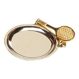 Tennismünzhalter (vergoldet)