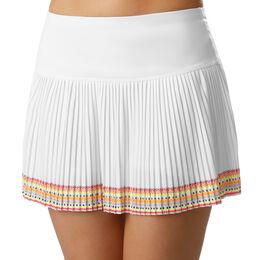 Neon Border Pleated Long Skirt Women