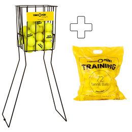 Training 72 Bälle im Beutel (drucklos) plus Ballkorb