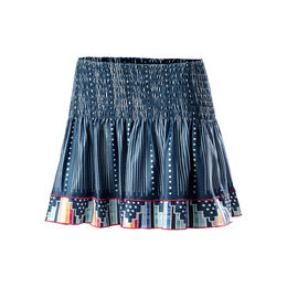 Long Flower Patch Smocked Skirt