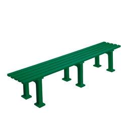 Tennisplatzsitzbank ohne Lehne, Länge 2,00 m, grün