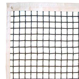 Tennisnetz Hard Cross, schwarz, 5 mm Polyester, gefl. PVC-ummantelt